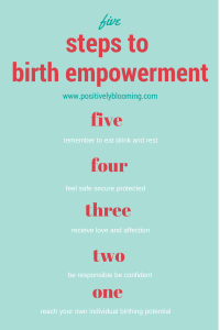 5 steps to feeling empowered for birth